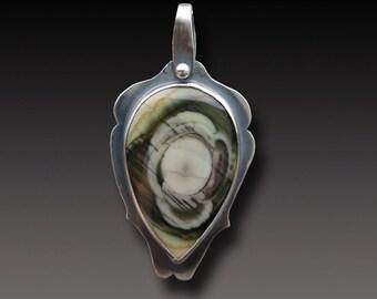 Imperial Jasper Necklace Sterling Silver Splendid Orbs Pendant