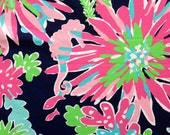 "lilly pulitzer's multi sippin' & trippin' egyptian cotton fabric square 18""x18"""