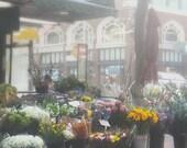 Flower Shop, San Francisco Photography, Flower Market Photo, California, Large Wall Art, San Francisco Streets, SF Decor, Flowers,