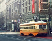 Vintage Streetcar Photograph, San Francisco Trolley Photography, California, San Francisco Art Print, Vintage Bus, City Streets Photo