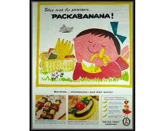 Packabanana Cute Chiquita Banana Girl Wall Art Decor E114