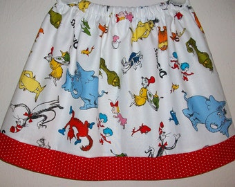 4t Skirt Girls Skirt Dr Seuss Party Clothes Cat in the Hat Skirt Lorax Thing 1 Thing 2 Grinch toddler skirt