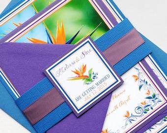 Bird of Paradise Invitation and RSVP Destination Wedding Suite