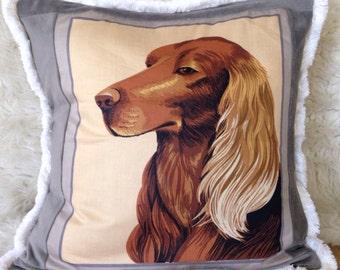 Irish setter dog pet throw pillow 16x16