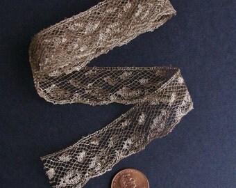 Antique Gold Metallic Lace Trim