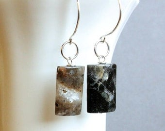 Dark Quartz  Earrings     Gemstone    Jewelry  Quartz Jewelry Gem Jewelry Brown Stone Earrings  Hildes Jewellery Sterling silver