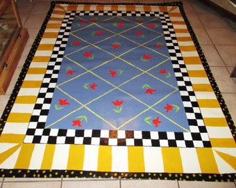FLOORCLOTH  Country Cottage Chic  3'x5'