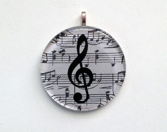 SALE Ornament - Music Notes - G Clef  (Packaged)