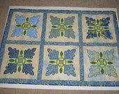 Applique Wall Quilt Blues Yellows