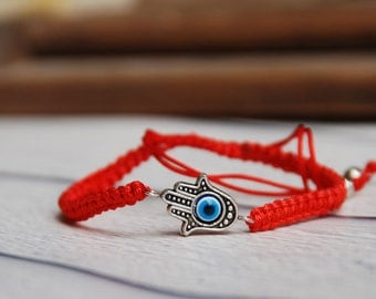 HAMSA bracelet--- Evil eye bracelet Hamsa bracelet good luck charm bracelet