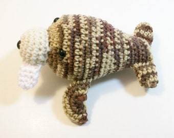 Plush Toy Walrus. Wendy the Walrus. Amigurumi Walrus. Crochet Marine Animal. Handmade Toy Walrus. Walrus Yarn Toy. Ready-to-Ship