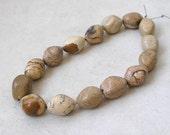 Picture Jasper Beads- Diamond Oval Shape Jasper Gemstone For Jewelry Making