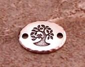 Bird In A Tree Oval Link, Antique Silver, TierraCast TS104