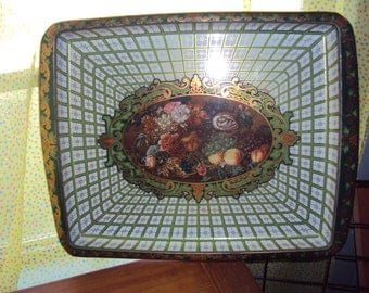 Large Vintage Daher Decorated Ware Metal Tray