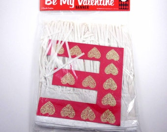 Vintage Large Fringed Be My Valentine Banner in Original Package by Beistle