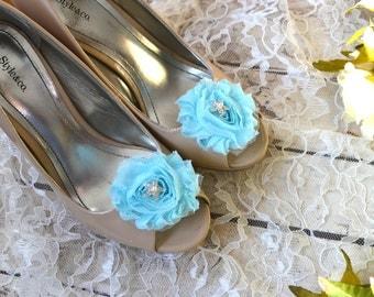 Flower Shoe Clips, Starfish Flower shoe clips, shoe clips, wedding shoe clips, rhinestone shoe clips, pearl, Nautical, Beach Wedding