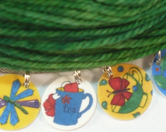 STITCHMARKERS for KNITTERS or CROCHETERS, Tea Time