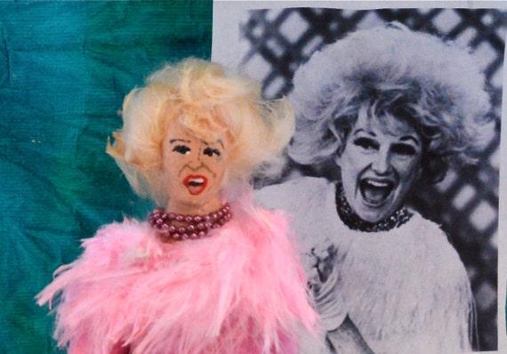 Phyllis Diller Doll Miniature Fan Art Comedy Character