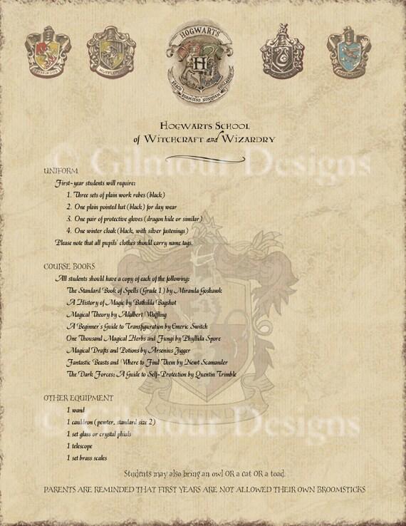 Harry Potter Hogwarts Acceptance Letter by gilmourdesigns ...
