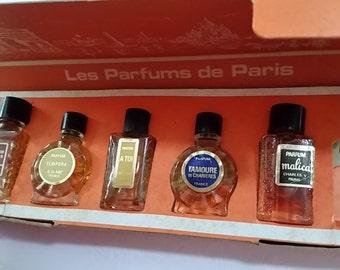Vintage 1950s FRENCH Les PARFUMS de PARIS Minis