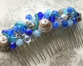 Ocean Waves Hair Comb CUSTOM ORDER Reserved only for D.