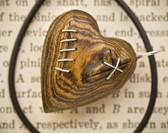 Stitched Heart Pendant