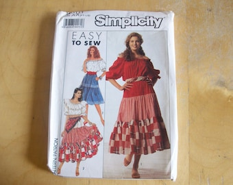 Simplicity 9601 Blouse and Skirt Sewing Pattern