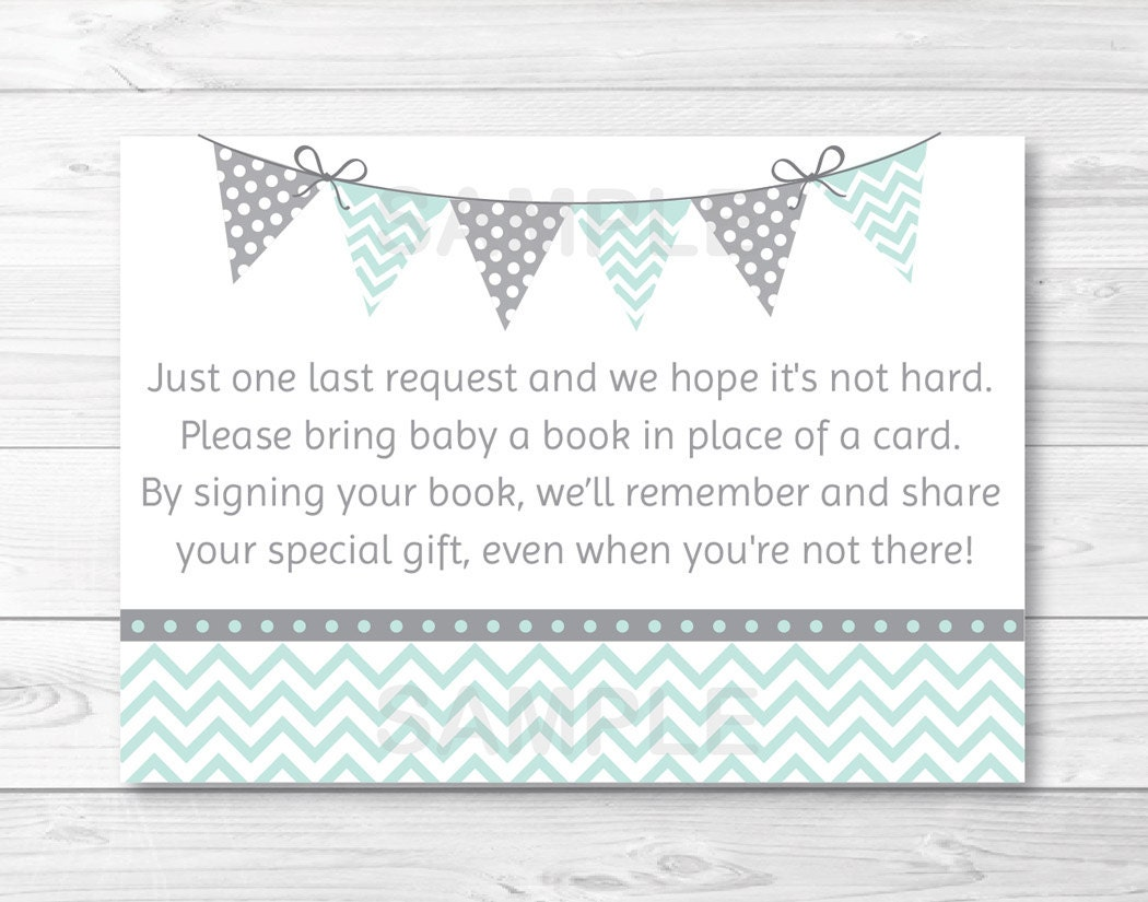 cute chevron baby shower book request cards chevron pattern
