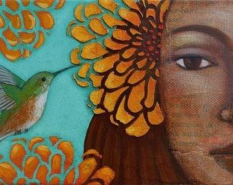 Motherhood Art Sacred Fertility Goddess Print by