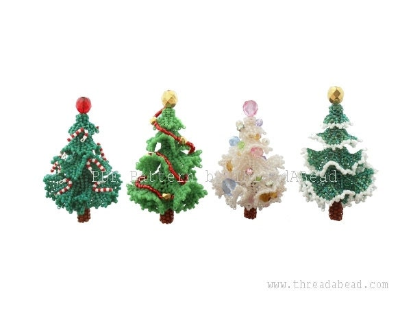 Bead Pattern: 3D Beadwork Christmas Tree Ornament