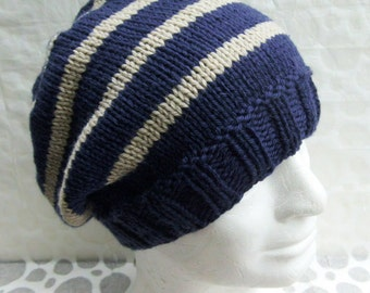 Knitting Pattern For Man s Hat : KNITTING PATTERN/CHARLEYMans Slouch Beanie Easy/ Knit