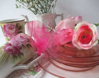 Vintage Pink Tea Party Collection of Eight