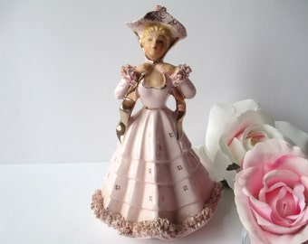 Artmark Lady in Pink Planter - Vintage Charm