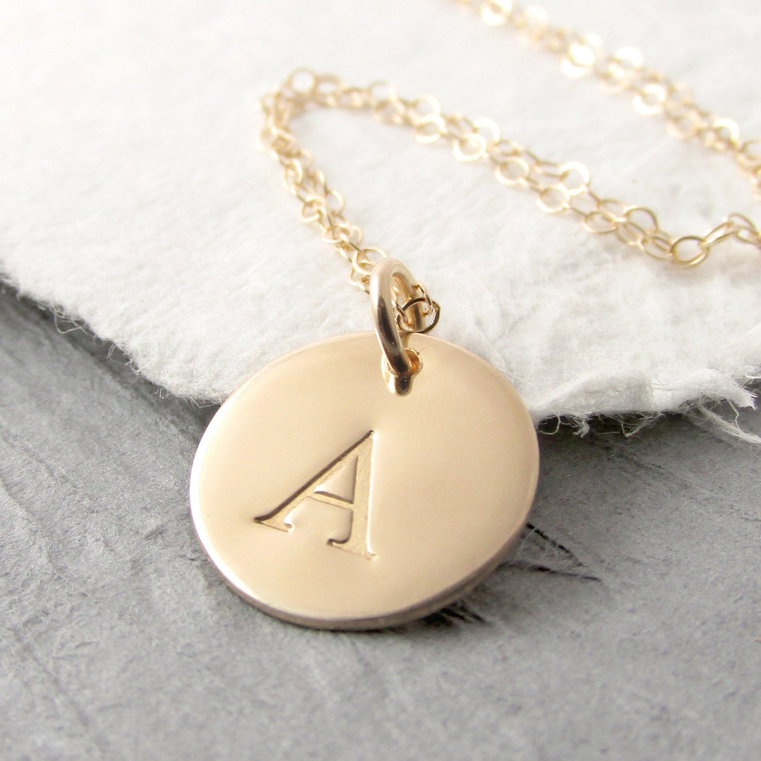 initial necklace gold 14k gold pendant necklace solid gold
