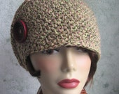 Side Wrap Womens Crochet Hat Pattern With Button Trim Instant Download May Resell finished