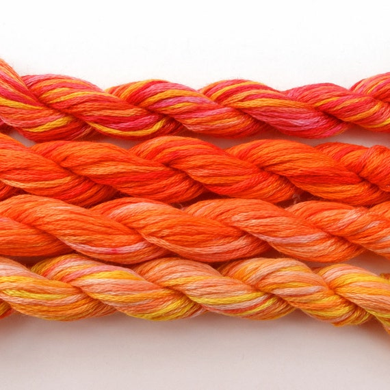 Hand Dyed Embroidery Floss Cross Stitch Thread 4 By