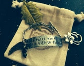 Fleetwood Mac Hand Hammered Rhiannon BRACELET ~ stevie nicks style ~ metal stamped ~ customize With YOUR words or name