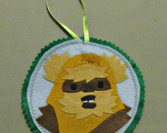 Ewok Wicket Star Wars Ornament, Wall Art, Patch, Accessory