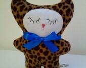 Baby Leopard Plush Toy, Small Fleece Cat Toy, Little Plush Leopard Cat