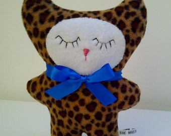 Baby Leopard Plush Toy, Small Fleece Cat Toy, Little Plush Leopard Cat
