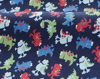 3928 - Dinosaur Flannel Cotton Fabric - 55 Inch (Width) x 1/2 Yard (Length)