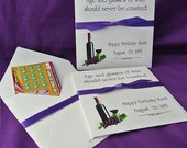 60th Birthday Decorations - Wine Party Favors - Lottery Ticket Holders - Birthday Party - Adult Party Favors