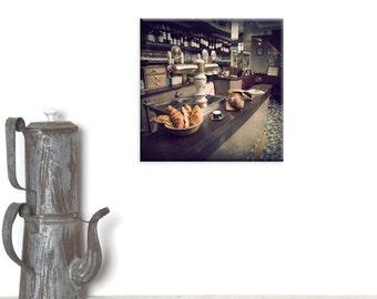 Parisian decor, canvas wrap, canvas art, photography canvas, Paris cafe,Paris cafe art, Paris Breakfast, Breakfast print, French bistro