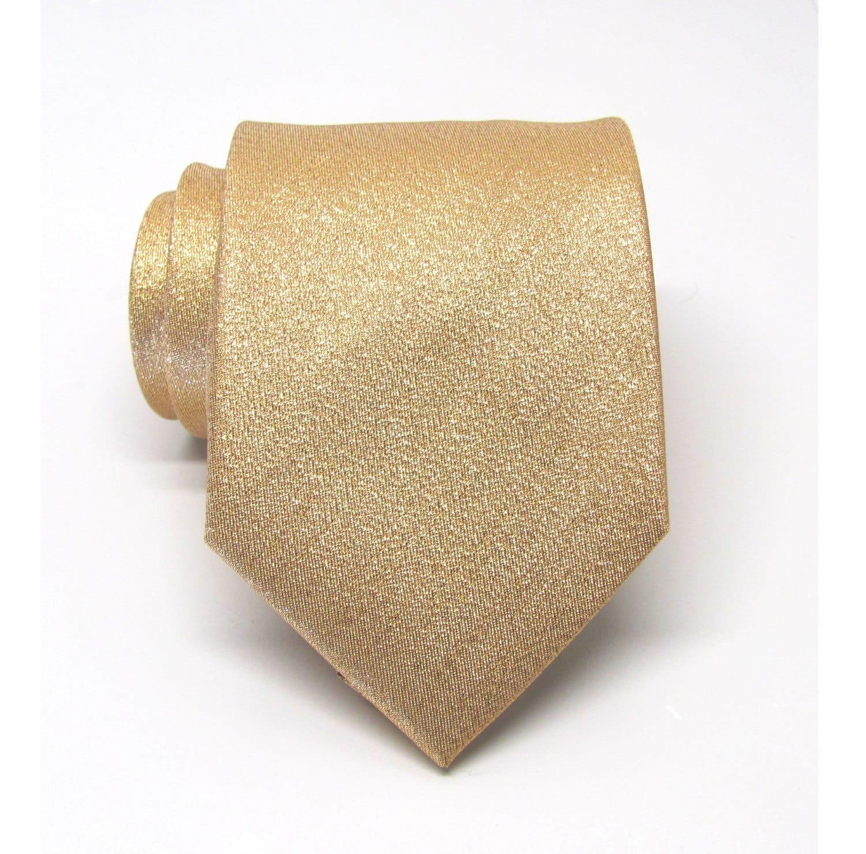 mens ties necktie lam 233 gold metallic tie with matching pocket