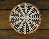 lace doily decor ~ framed doily