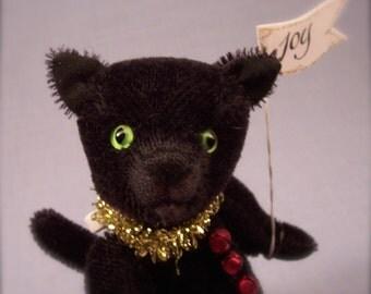"""artist mohair cat named """"Licorice"""""""