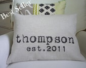 Personalized Wedding Pillow, Personalized Wedding Date Gift, Cotton Anniversary Gift, Anniversary Date Pillow, Personalized Gift