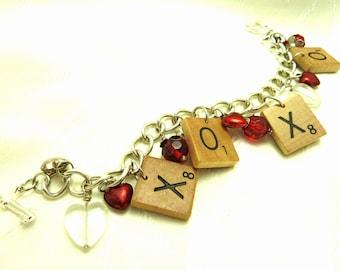 Hugs And Kisses Charm Bracelet