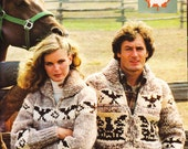 8 page PDF for Cowichan-style Eagle - Thunderbird - Eagle Sweater Pattern #21- Canadian Vintage White Buffalo Sweater Jacket pattern