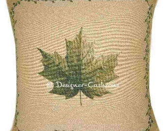 Leaf Design No 1 Tapestry Cushion Cover Sham